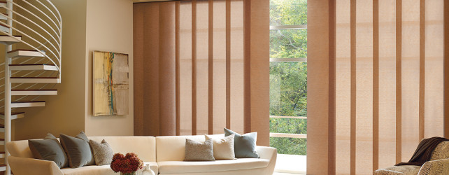 Panel Track Blinds for Large Windows
