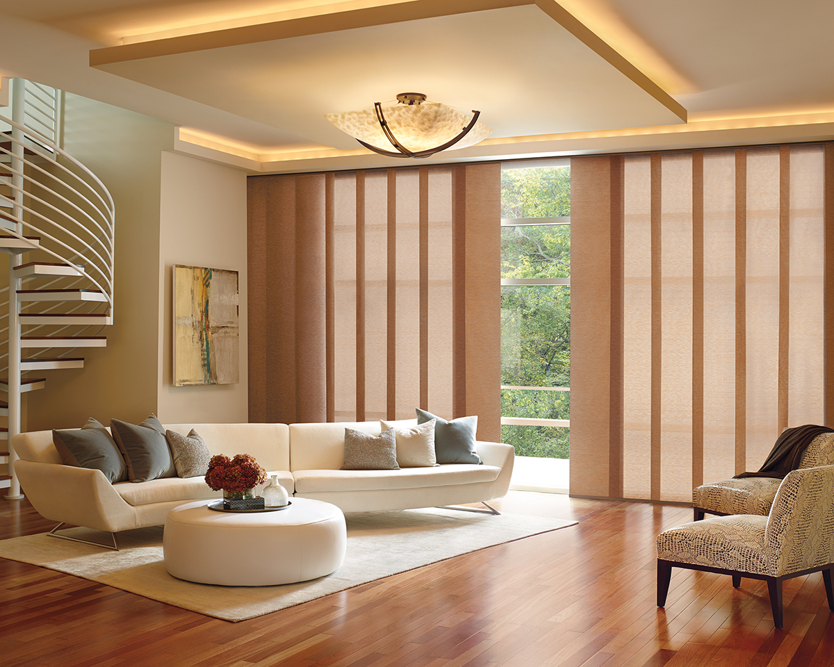 Large window panel track blinds mt pleasant charleston sc for Window design solutions