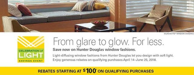 Great Rebates From Hunter Douglas