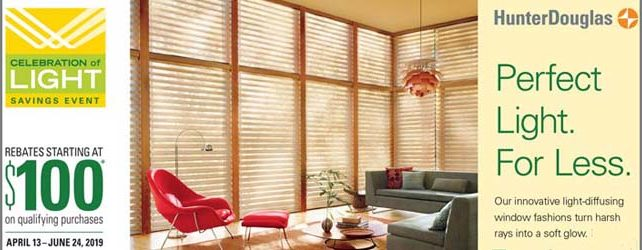 Save on Hunter Douglas Now!