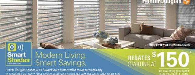 Smart Shade Savings From Hunter Douglas